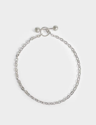 Saskia Diez Barbelle Silver Choker Necklace in Silver