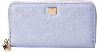 Dolce & Gabbana Leather Zip Around Wallet