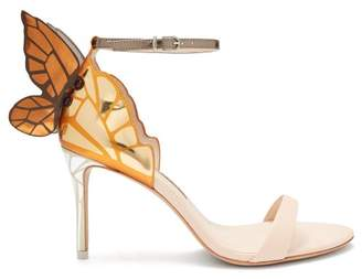 Sophia Webster Chiara Butterfly Wing Leather Sandals - Womens - Nude Gold