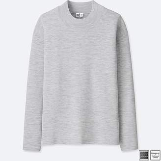 Uniqlo Men's U Milano Ribbed Mock Neck Long-sleeve Sweater