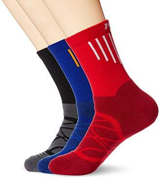 Kold Feet Men's Performance 3 Pairs Crew Socks For Cycling