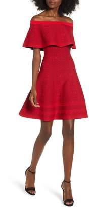 Endless Rose Off the Shoulder Fit & Flare Dress