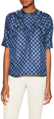 Tocca Silk Twill Printed Blouse