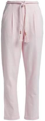 Antik Batik Belted Cotton-Canvas Tapered Pants