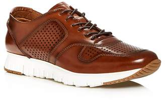 Kenneth Cole Men's Bailey Perforated Burnished Leather Lace Up Sneakers
