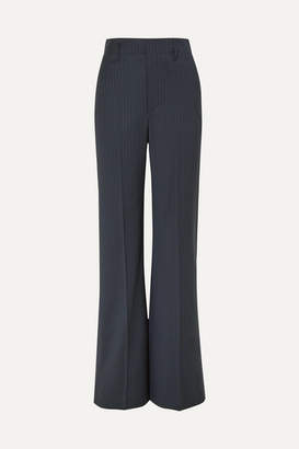 Joseph Ido Pinstriped Wool-blend Straight-leg Pants - Navy