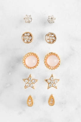 Revello Set of Gold Stud Earrings