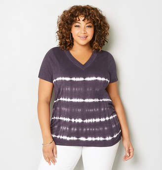Avenue Tie Dye Side Ruched Tee