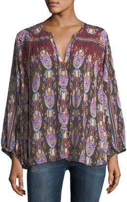 Johnny Was Roco Printed Challis Blouse
