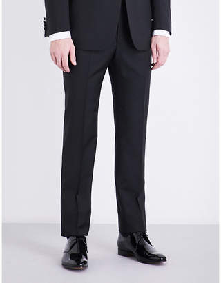 Richard James Regular-fit tapered mid-rise wool and mohair-blend trousers