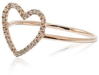 Rosa De La Cruz Rose Gold and Diamond Heart Ring