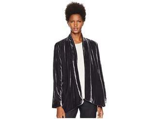 Eileen Fisher Velvet Angled Shaped Jacket Women's Coat