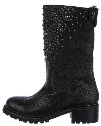 Zadig & Voltaire Leather Studded Boots