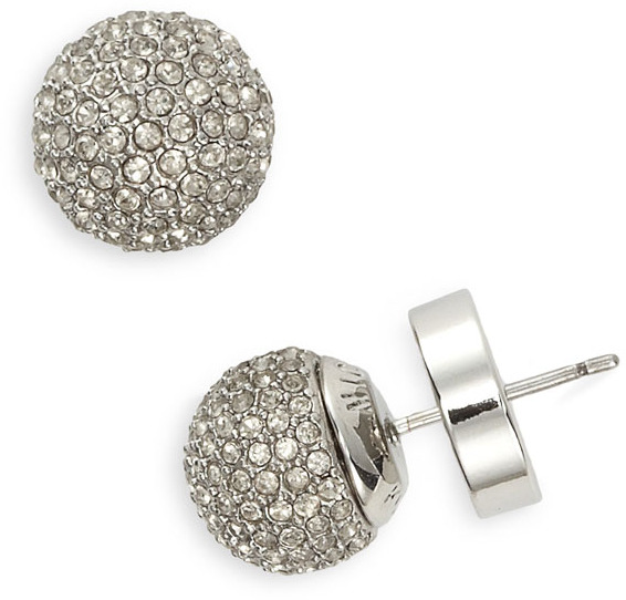 Michael Kors Pave Ball Stud Earrings
