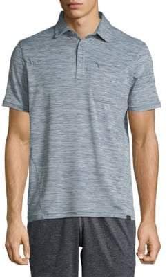 Hawke & Co High-Rise Short-Sleeve Polo