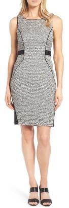 Women's Classiques Entier Tweed & Ponte Knit Sheath Dress $279 thestylecure.com