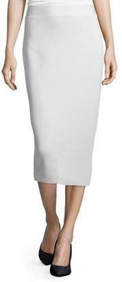 Eileen Fisher Silk Organic Cotton Interlock Pencil Skirt, Bone $228 thestylecure.com