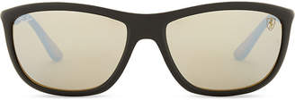 Ray-Ban Rb8351 square-frame mirror lens sunglasses