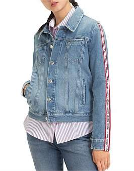 Tommy Hilfiger Regular Trucker Jacket With Sleeve Tape