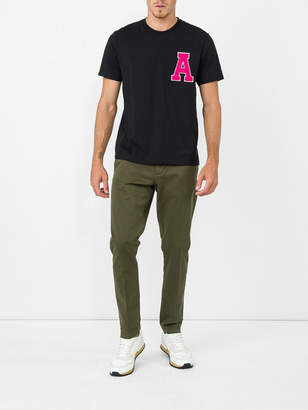 Ami Alexandre Mattiussi Ami x the webster exclusive varsity patch t-shirt