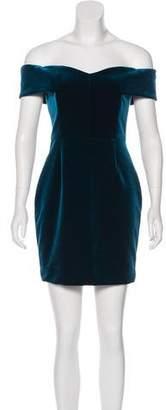 Nicholas Off-The-Shoulder Velvet Dress