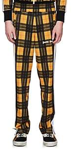 Palm Angels Men's Plaid Jersey Track Pants-Yellow