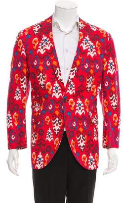 Miller's Oath Abstract Print One-Button Blazer