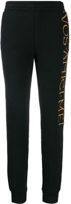 Moschino embroidered logo track trousers