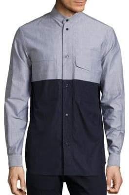 Diesel Colorblocked Cotton Sportshirt
