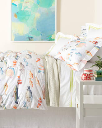 Pine Cone Hill Happy Fish King Duvet Cover