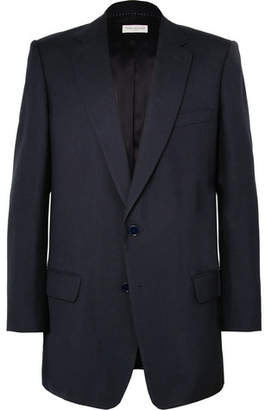 Dries Van Noten Navy Barlow Oversized Wool Blazer