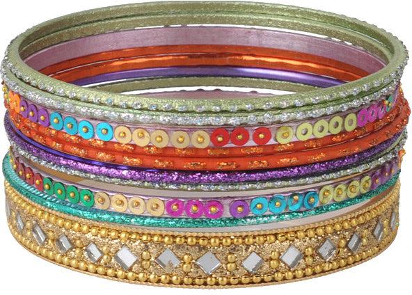 Colorful Shimmer Bangles