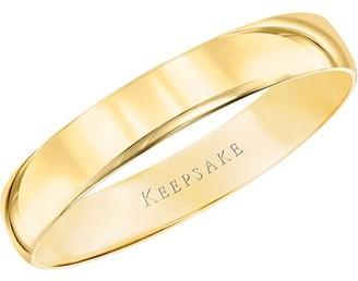 Keepsake 10kt Yellow Gold Comfort Fit Wedding Band, 4mm