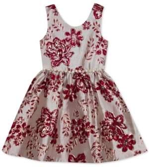 Rare Editions Little Girls Floral Brocade Dress
