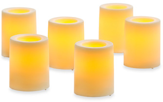 Bed Bath & Beyond Candle Impressions 6-Pack Flameless Smooth Votive Candles