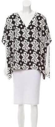 Diane von Furstenberg Oversize Silk Adria Top