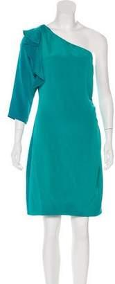 Diane von Furstenberg Silk One-Shoulder Knee-Length Dress
