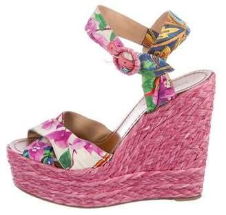 Dolce & Gabbana Floral Espadrille Wedges