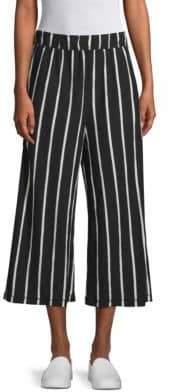 Eileen Fisher Striped Wide Leg Capri Pants