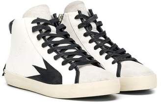 Crime London Kids TEEN lace-up high-top sneakers