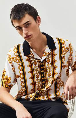 PacSun Reign Short Sleeve Button Up Shirt