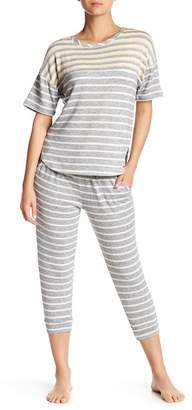 Kensie Stripe Knit Capri Pants