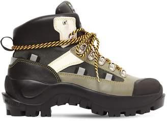 Ganni 40mm Bruna Leather Hiking Boots