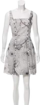 Christopher Kane Printed A-Line Dress