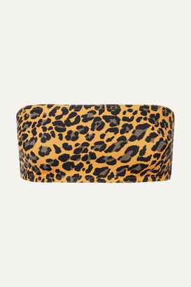 Zimmermann Leopard-print Bandeau Bikini Top - Leopard print