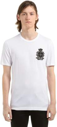 Dolce & Gabbana Bee Crest Embroidered Jersey T-Shirt