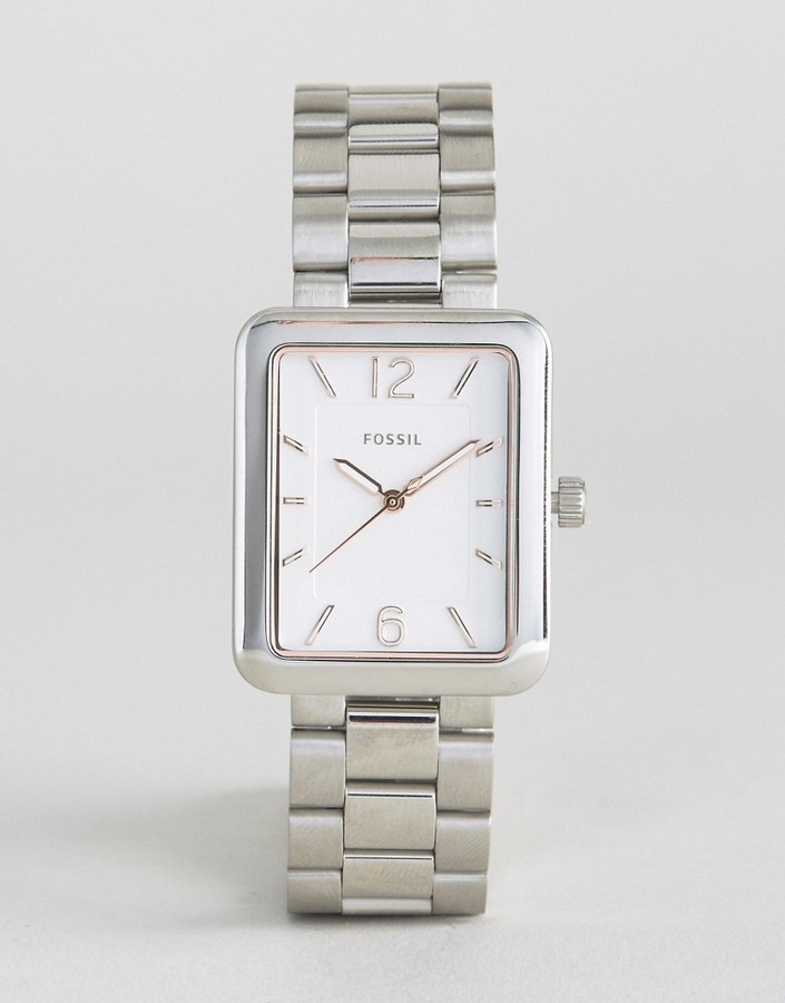 FossilFossil Silver ES4157 Atwater Square Face Watch