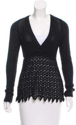 Missoni M Long Sleeve V-Neck Sweater