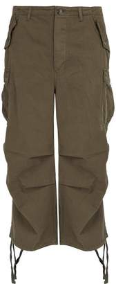 Raey Wide Leg Cotton Cargo Trousers - Mens - Khaki