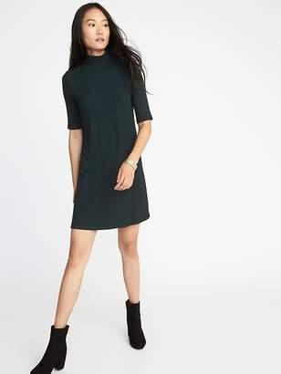 Old Navy Mock-Neck Rib-Knit Shift Dress for women